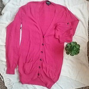 Bluenotes Women's Pink Cardigan. Small. $7 ADD ON!